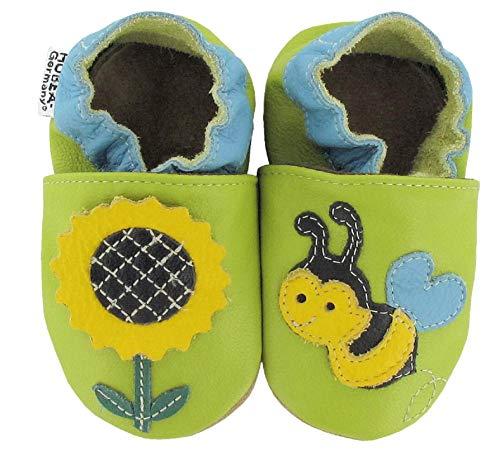 HOBEA-Germany Krabbelschuhe Babyschuhe mit Tieren, Schuhgröße:24/25 (24-30 Monate), Modell Schuhe:Biene