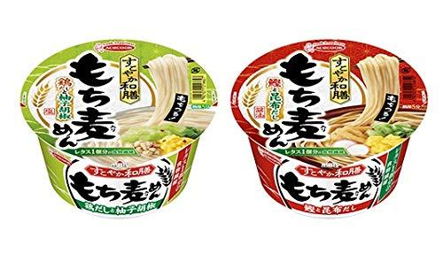エースコック すこやか和膳 もち麦めん 2種類各4食  1箱:4食入り (鰹と昆布だし・鶏だしと柚子胡椒