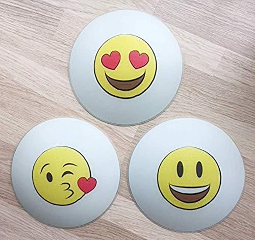 Deckenleuchte/Wandlampe * SMILEY EMOJI Mund Augen Herz Glitzer gelb rot * auch LED