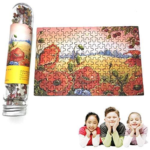 Diversión Rompecabezas creativo Ocio Turismo mini rompecabezas Conjunto con botella Tubo novedad del regalo de Navidad de juguete para niños B 150pcs / pack