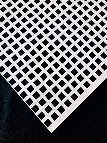 Stahl Verzinkt Lochbleche QG10-15 Farbig Weiß RAL 9016 Stahl 1,5 mm dick Bleche Zuschnitt nach Maß (500 mm x 600 mm)