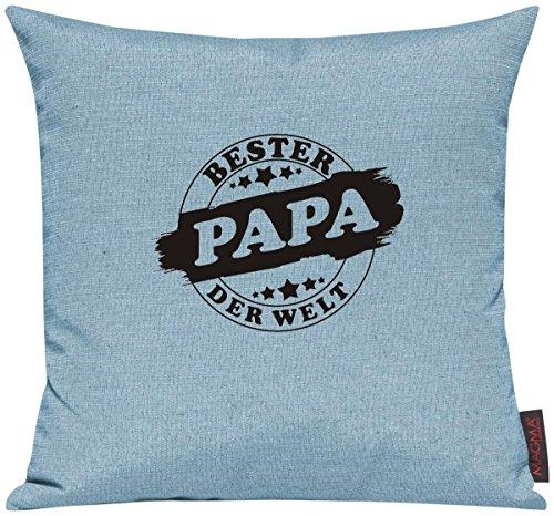 Kissenhülle für Auserwählte! Sofakissen Bester PAPA der Welt Stampstyle, Farbe tuerkis