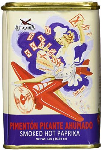 El Avion Pimentón Picante Ahumado - scharfes Paprikapulver, geräuchert aus Spanien / Valencia in einer attraktiven Doseung (1 x 160 g)