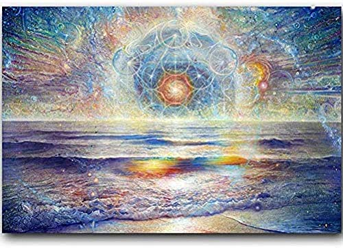 HJHJHJ Jigsaw Puzzle 1000 Piece 3D Puzzle Wall Art Pictures Home Decor Psychedelic Abstract Hd Celestial Shore Poster Christmas Puzzle
