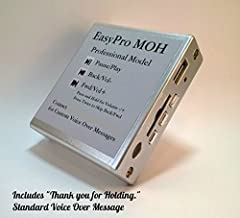 Music on Hold Plus Message on Hold MOH MP3 Player for Phone System PBX Key w/Remote