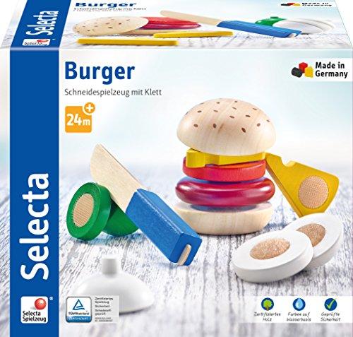 Selecta 62068 Burger, Klett und Schneidespielzeug, 12 Teile, bunt