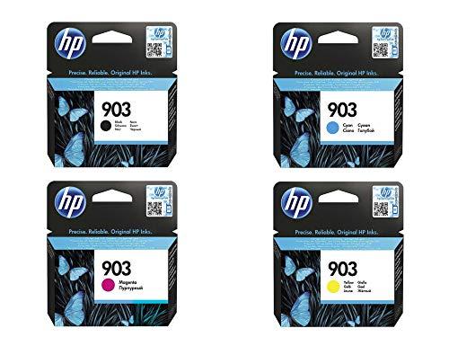 Hewlett-Packard - Cartuchos de tinta originales para HP Officejet 6950, HP Officejet Pro 6960 6968 6978 (incluye 100 hojas de papel para fotocopia)