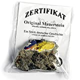 Real Piece of the BERLIN WALL with Certificate of Authenticity - Authentic Historic German Artifact Souvenir from Europe