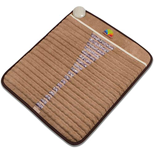 "Radiant Far Infrared Small Mini Mat Pad with 100% Amethyst Crystal Radiant Heat Therapy (20"" X 23"") FDA Registered Manuf - Adjustable Temp Settings - 110Volt - Flexible."