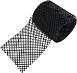 Ztalee Plastic Chicken Wire Mesh, Hexagonal Plastic Poultry Netting Extruded Plastic Chicken Wire Fence PVC Coated Plastic Safety Fence Roll (1.3ftX16.4ft, Black)