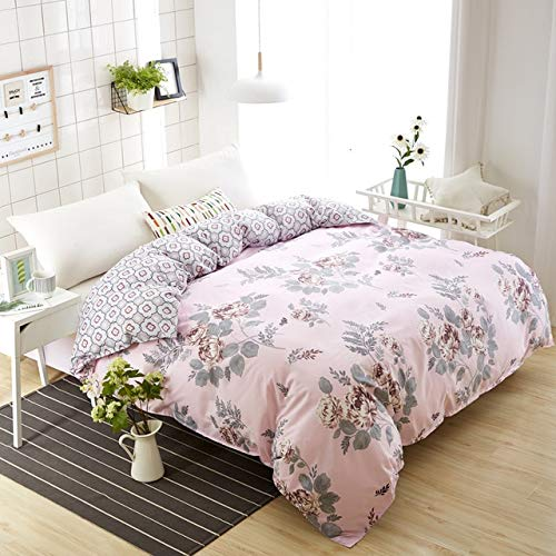 ALIPC Floral Pattern Home Bedding Duvet Cover Double,-sided Soft Comfortable Quilt Comforter Cover Home Textiles