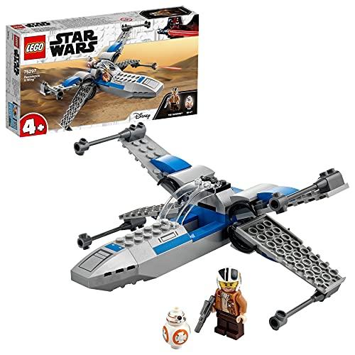 LEGO Star Wars Resistance X-Wing Starfighter, Giocattoli per Bambini 4 Anni con Minifigure di Poe Dameron, 75297
