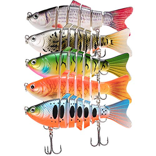 Multi-Joint Bionic Fishing Lure Hard Bait Fishing Accessories With 2 Treble Hook