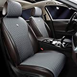 Universal Gray Leather Car Seat Cover Luxury Seat Covers Comfortable Car Seat Cover 2/3 Covered 11PCS Fit Car/Auto/Suv (A-Light gray) -  Haihong
