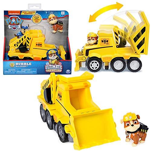 PAW PATROL Ultimate Rescue | Selección de Vehículos con Figura del Juego | Patrulla Canina, Figura:Rubble Excavadora