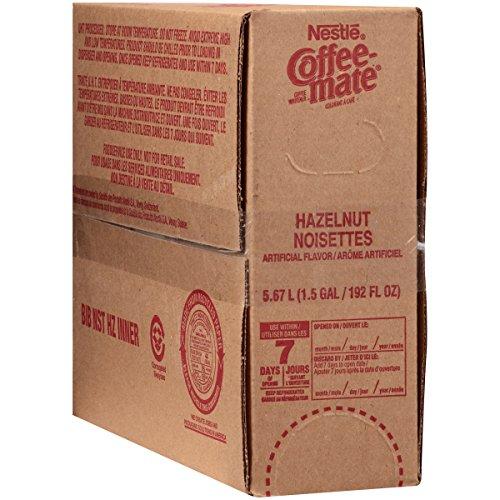 NESTLE COFFEE-MATE Coffee Creamer, Hazelnut, 192oz bulk liquid, Pack of 1