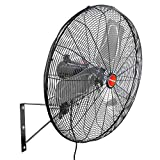 OEMTOOLS 24893 23.99 Inch High-Velocity Outdoor Oscillating Wall Mount Fan, Water-Resistance Rated for Outdoor Use, Great for Patios, 3-Speed Motor , 6700 CFM