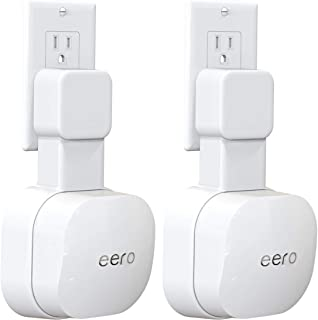 Outlet Wall Mount ONLY for eero 6 WiFi 6 System [NOT Fit for eero Pro 6], No Messy Wires | Space Saving | Easily Be Moved ...