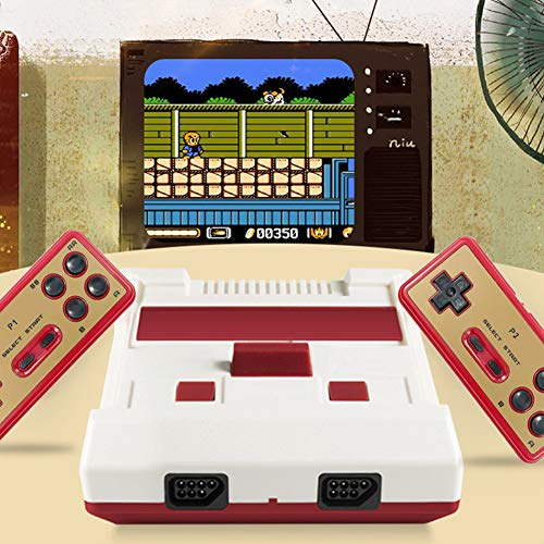Handheld-gameconsole, nostalgische gameconsole, slimme draadloze 2.4G HD FC-gameconsole voor thuis-tv, klassieke nostalgische NES rode en witte machine HDMI-uitgang