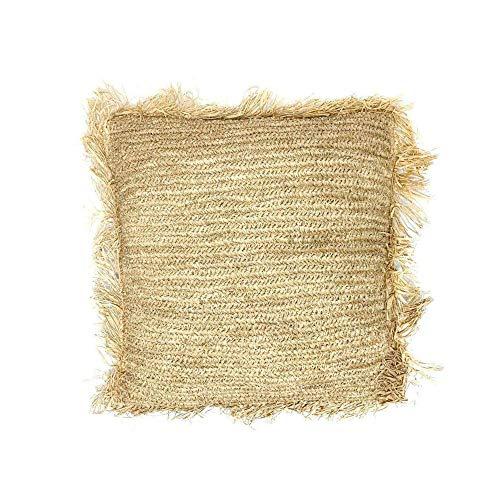 ZH ZocoHome Federa per cuscino in Rafia intrecciata | Dimensioni (cm): 45 x 45 | Materiale 100% Rafia complemento d'arredo per interni ed esterni