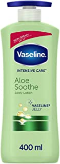 Vaseline Aloe Soothe Body Lotion with Aloe Vera, Non-Greasy formula that Heals and Refreshes Dry Skin, 400ml