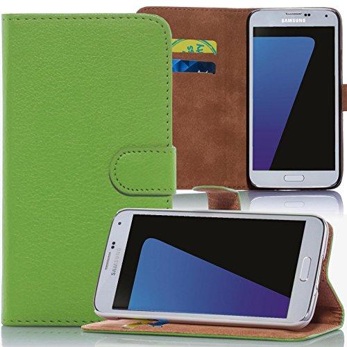 numerva HTC Desire 310 Hülle, Schutzhülle [Bookstyle Handytasche Standfunktion, Kartenfach] PU Leder Tasche für HTC Desire 310 Wallet Hülle [Grün]