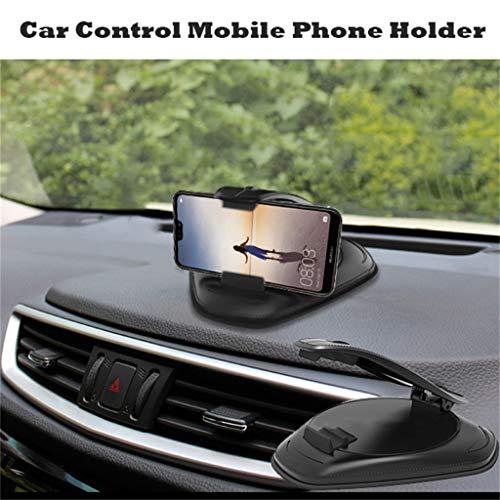 Universale Handyhalterung Halter Auto Handyhalter Multi Powered Handy allgemeine Instrument Tabelle Clip Halter Navigation Lüftung Belüftung Auto Phone für iPhone, Samsung und mehr (Schwarz)