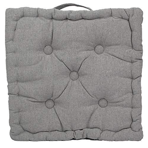 Tata Home Cuscino Materasso per Sedia da Interno ed Esterno Cuscino Pavimento Trapuntato Imbottito Misura 40x40x7 cm MOD. Ajour Grigio