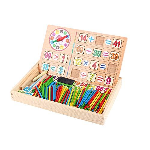 Wiskunde speelgoed stokken, houten cijfers tellen stokken, wiskunde nummer berekenen speelgoed, kinderen educatief houten voorschoolse tellen spel speelgoed
