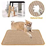 slowton cat scratcher mat, natural sisal woven rope scratching pad for cat grinding claws &