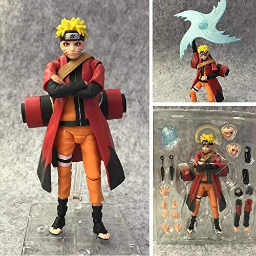 MDDCER 14 cm Naruto Naruto: Shippuden SHF Uzumaki Naruto Film Charakter Modell-Kind-Spielzeug
