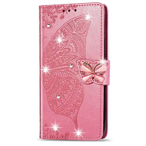 DESD041960 - Funda de piel tipo cartera para Oppo A72 5G (función atril, cierre magnético, tarjetero), color rosa