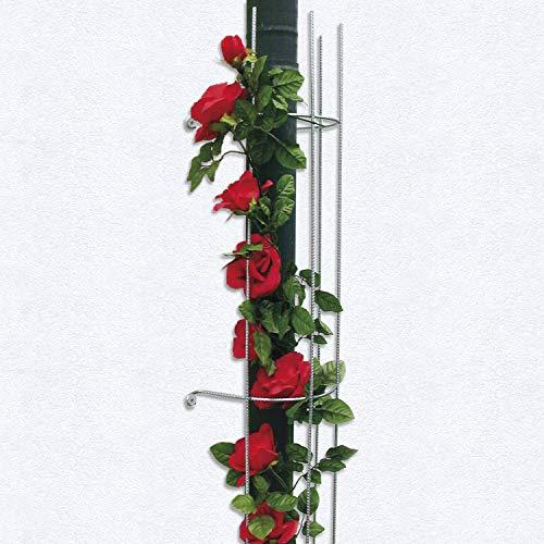 bellissa 1 Stück Fallrohrspalier halbrund - Rankgitter Spalier Rankhilfe im Garten halbrund - Zink rip 115 x Ø18 cm