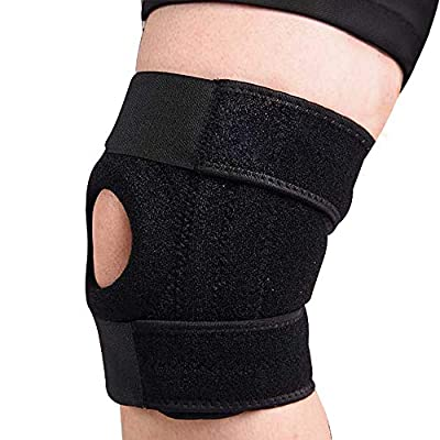Knee Brace,Refial Patella Stabilizer, Bundled and Perforating Knee Pad Features Sports Protection, Warm-Keeping and Joint Care, Applying to All Kinds of Sports, Running, Arthritis and So Forth.