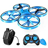 SNAPTAIN SP300 Mini Drone, Hand Operated RC Quadcopter w/Throw'N Go, Multiple Remote Controls, G-Sensor Mode, 3D...