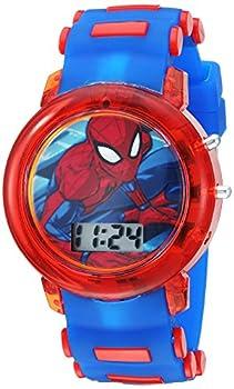 Marvel Boys  Quartz Watch with Plastic Strap Blue 20  Model  SPD4464