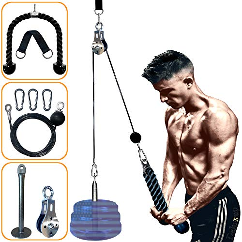 LAT Pull Down Machine pulley pro- Pulley system gym for Workout-new Pulley Cable System for your ultimate Home Gym System this weight pulley system is suitable for all Cable pulley attachments for gym