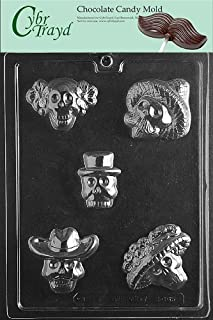 Cybrtrayd Life of the Party H165 Cinco de Mayo Mexican Sugar Skull Day of The Dead Chocolate Candy Mold in Sealed Protective Poly Bag Imprinted with Copyrighted Cybrtrayd Molding Instructions