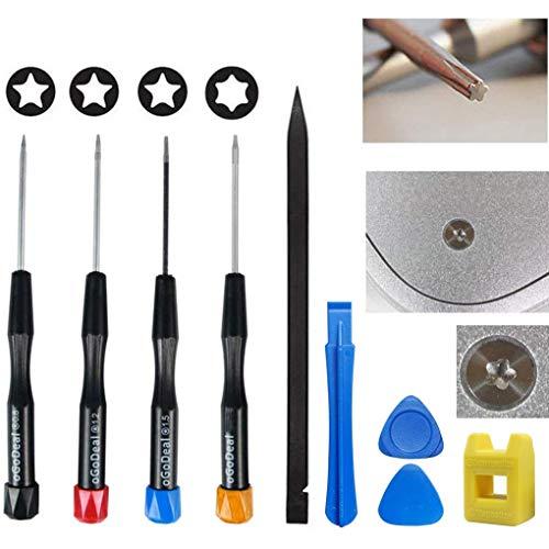 oGoDeal Precisión Juego de Destornilladores de Pentalobe P2 P5 P6, Destornillador Magnética Pentalobulares de 0,8 mm, 1,2 mm, 1,5 mm para Apple iPhone, MacBook Pro y Air Retina