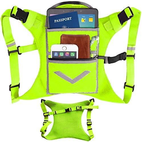Lime Green Running Mini Backpack Vest for Men Women Reflective w 360 Hi Viz Holds Accessories product image