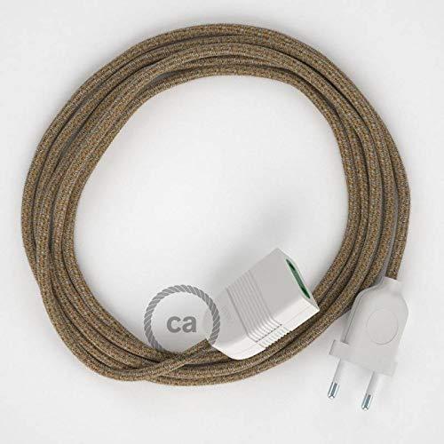 creative cables Alargador eléctrico con Cable Textil RS82 Algodón y Lino Natural...