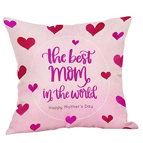 SIRIGOGO - Funda de almohada decorativa cuadrada de lino y algodón con cremallera, ilustraciones de papel pintado, flores, sofá, cintura, 43 cm, 43 cm, juego de 1