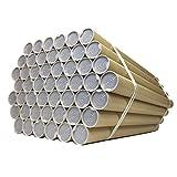 紙筒 丸筒 紙管 ポスター 筒 両端キャップ付 50本セット 径51mm 肉厚1.0mm  B2用 径51mm 長さ550mm 肉厚1.0mm