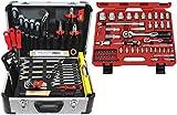 Famex Werkzeug 729-24 Werkzeugkoffer Komplettset Top Qualität mit 66-teiligem Steckschlüsselsatz