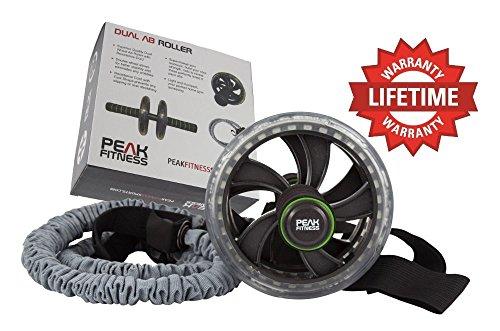 Peak Fitness Ab Roller Elastico e Cinghie per i Piedi,...