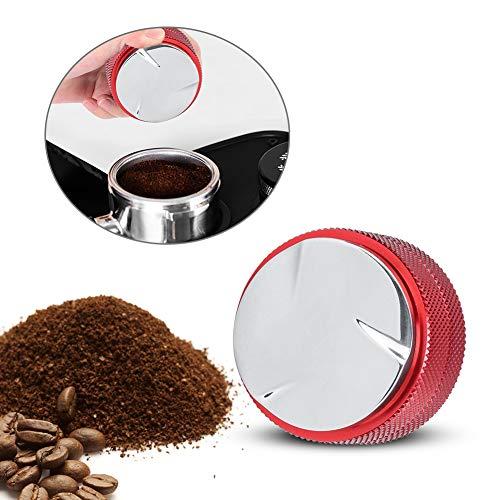 Espresso Tamper Coffee Bean Pressing Tool, 51 mm roestvrijstalen koffie Tamper Tamping Tool voor commercieel gebruik 3 schuine hellingen Onderste espresso verdeler voor thuiscafé