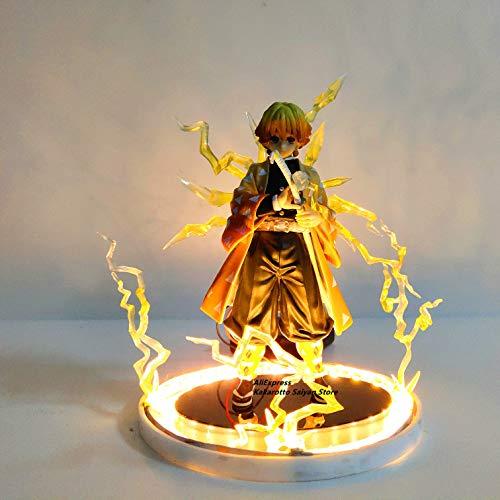 Demon Slayer Agatsuma Zenitsu Pvc Action Figures Thunderclap And Flash Effect Anime Kimetsu No Yaiba Figurine Modelo Toys Demon Slayer Agatsuma Zenitsu Pvc Action Figures Thunderclap And Flash Effect