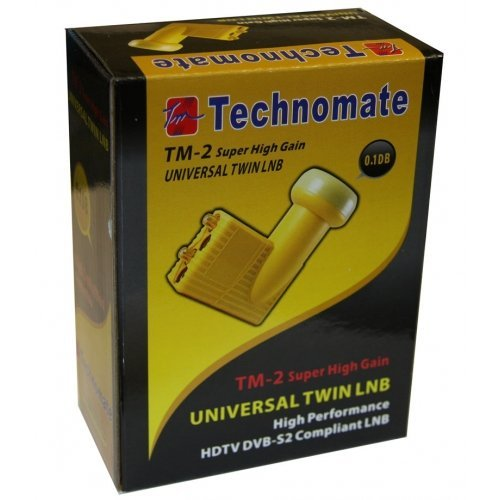Technomate TM-2 0,1 db con Doble Super Alta Ganancia LNB (Importado)
