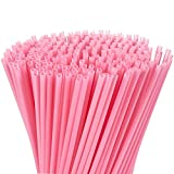 Juvale 300-Pack Plastic Pink Disposable Party Drinking Straws for Baby Showers & Birthdays, Extra Long Size, 10 Inches