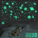 Leuchtende Sterne für Decke, 462 Stück, 3D-Leuchtsterne,